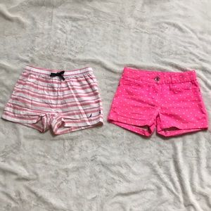 Lot of 2 Nautica Girl's summer shorts -size 8